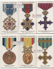 Romania Post WWI Military War Decorations and Medals SIX 1920s Ad Trade Cards
