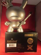"Kidrobot 8"" Silver King Dunny by Tristan Eaton 10 Years X RARE ONLY 300"