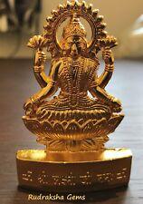 GODDESS OF WEALTH LAKSHMI LAXMI MAA GOLDEN METAL STATUE HINDU IDOL DIWALI POOJA