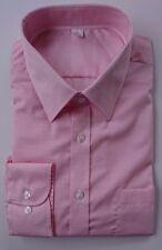EX m&s Corte Normal 100% Algodón Camisas Rosa/Lila Nuevo sin etiqueta 14.5-18.5