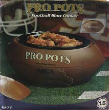 NEW Pro Pots Football Slow Cooker Crock Pot 1.5 Qt Man Cave Tail Gate Party Dorm