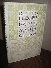 1st/1st Printing DUINO ELEGIES Rainer Maria Rilke RARE Classic POETRY Bilingual