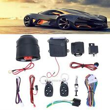 Car Vehicle Burglar Alarm Speaker Security System Keyless w/ 2 Remote Control
