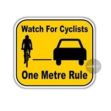 Watch for cyclists one metre rule bike safety Australian / British vinyl sticker