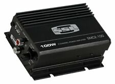 2 Channel Car Audio Stereo Compact Mini Amplifier.Power Speaker pair w/ Amp.
