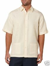 Cubavera Men S/S Two Pocket Button Front Shirt Italian Straw Yellow Large New