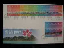 1997 Hong Kong Definitive Stamp (from 10 cents to $50) S/S FDC