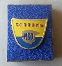 NSU plaque 50000 km kilomètres Original Boîte Gest MAYER PFORZHEIM 51x61mm