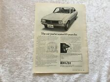 MAZDA R100 COUPE 1970 POSTER ADVERT READY FRAME A4 SIZE H