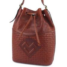 MARIO VALENTINO shoulder bag MV mark leather Auth used L3255