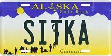 Sitka Alaska Aluminum License Plate