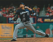 WEI CHUNG WANG SIGNED AUTO'D 8X10 PHOTO POSTER MILWAUKEE BREWERS NC DINOS C