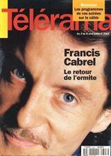 telerama n°2307 francis cabrel robert walser giulietta masina 1994