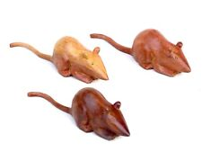 Mice Hand Carved Wooden Mice Mouse SET OF 3.....