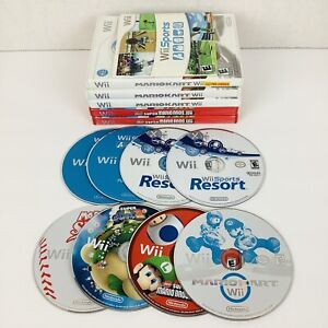 Lot of 14 Assorted Wii Sports / Resort / Mario Games Many Scratches MAY NOT WORK