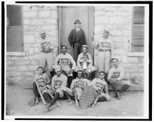 "New listing HP  8"" x 10""  1899 African American baseball players"