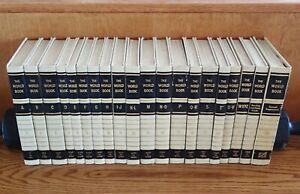 Set of 20: THE WORLD BOOK ENCYCLOPEDIA 1958, Hardcover, Ex-Library Reference