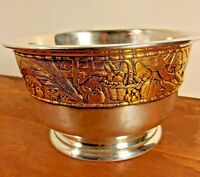 """Franklin Mint Silver Plated Harvest Bowl - Limited Edition 1977 9.5""""W x 5.5""""H"""