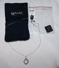 New ListingJtv Enchanted Disney Cinderella Blue Sapphire Diamond Clock Pendant Necklace New