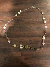 NWT lia sophia MAGGIE matte gold genuine jade tigers eye abalone jasper MOP