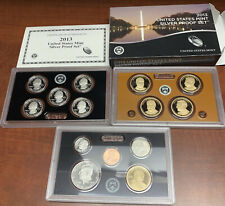 COMPLETE 2013 UNITED STATES Mint Silver PROOF SET with Box + COA US S 14-Coins
