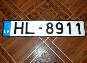 LATVIA STATE EU CAR VEHICLE LICENSE PLATE - HL 8911 expired