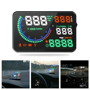 L8 Car HUD OBD2 Head Up Display Digital Speedmeter Vehicles Speed Warning System