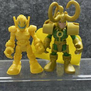 2PCS Playskool Marvel Super Hero Adventures Loki & Ultron Sentry Figure Kid Toys