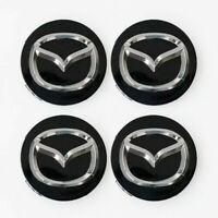 4x 56mm Mazda Nabendeckel Felgendeckel Nabenkappen Schwarz