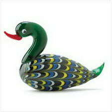 "Art Glass Mallard Figurine  Glass. 4 1/8"" x 1 3/8"" x 2 3/4"" high"