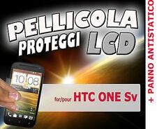Pellicola protezione DISPLAY 100% LUMINOSO LCD per htc one SV PANNO ANTISTATICO