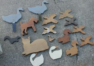 WOOD  Yard  ART   Animal Cutouts   Cat Dog Squirrel Geese  Garden Figures