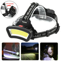 COB LED headlamp USB rechargeable Headlight Camping head light Torch Flashlight