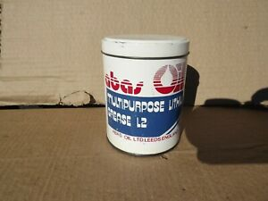 Vintage Abas Oil L2 Grease Tin 500g Classic Motor Car Enthusiast Garage Display