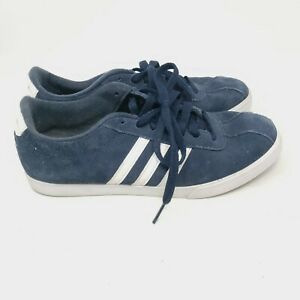 Adidas Courtset Women's AW4212 Comfort Footbed Suede Shoes Sneakers Navy Blue 9