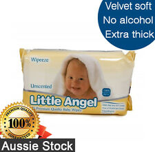 Little Angel Baby Wipes Unscented / Fragrance Free 80pk - Thick Quality & Cheap