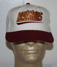Vintage Double Logo Washington Redskins Script White Fitted Hat Cap 7 1/4
