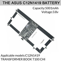 Genuine Laptop Battery 30Wh for ASUS C12N1419 TRANSFORMER BOOK T100 CHI