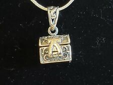 Sterling Silver Treasure Chest Pendant With Italian Snake Chain
