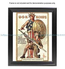 "WW1- 1918 war poster Third Liberty Loan (US) 8x10"" print wall artwork"