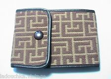 PIERRE BALMAIN FRENCH 1960s LEATHER CHECKBOOK WALLET~LOGO SIGNATURE~MINT VINTAGE