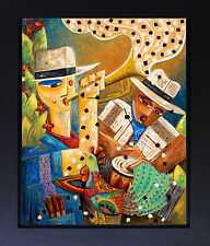 Musicians Trumpet Congos Latin Blues Jazz Surreal Art Landscape Art SFASTUDIO