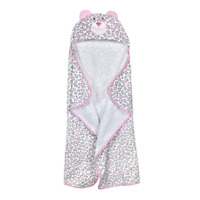 Just Born Just Bath Welcome to The Circus Hooded Bath Wrap, Pink Gray