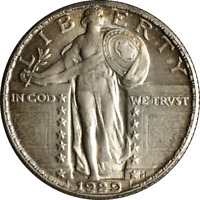 1929-P Standing Liberty Quarter Choice BU++ Superb Eye Appeal Nice Strike