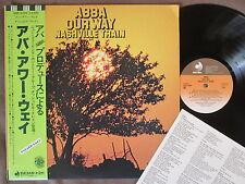 NASHVILLE TRAIN Abba Our Way JAPAN LP w/OBI+INSERT DSP-5104 Free S&H/P&P Ex/Ex++