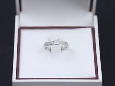 Diamond Engagement Ring 18ct White Gold Ladies Size J 1/2 750 2.6g Df35
