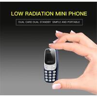 Mini BM10 GSM Mobile portable Téléphone Bluetooth Dialer 2SIM Casque Phone Gris