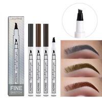 3Color Four Comb Eyebrow Pencil Liquid Natural Waterproof Long-lasting Makeup