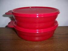 Tupperware Microwave Cereal Bowls ~ Red ~ Set of 2 ~  NEW