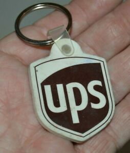 NICE UPS United Parcel Service Brown Mailbox Mail Rubber Key Chain